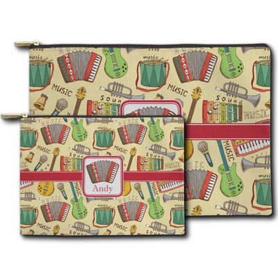 Vintage Musical Instruments Zipper Pouch (Personalized)