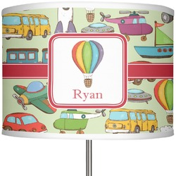 "Vintage Transportation 13"" Drum Lamp Shade (Personalized)"