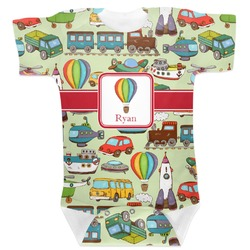Vintage Transportation Baby Bodysuit (Personalized)