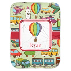 Vintage Transportation Baby Swaddling Blanket (Personalized)