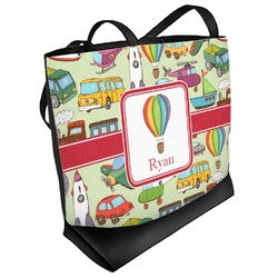 Vintage Transportation Beach Tote Bag (Personalized)