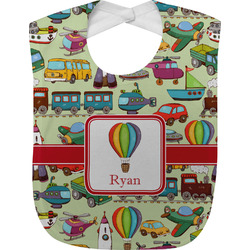 Vintage Transportation Baby Bib (Personalized)