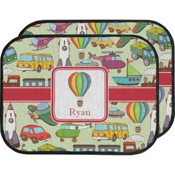 Vintage Transportation Car Floor Mats (Back Seat) (Personalized)