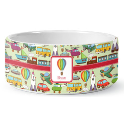 Vintage Transportation Pet Bowl (Personalized)