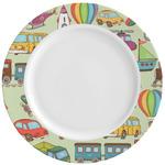 Vintage Transportation Ceramic Dinner Plates (Set of 4) (Personalized)