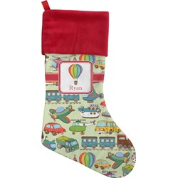 Vintage Transportation Christmas Stocking (Personalized)