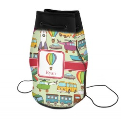 Vintage Transportation Neoprene Drawstring Backpack (Personalized)