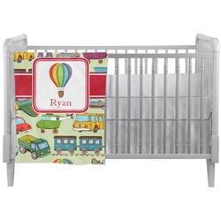 Vintage Transportation Crib Comforter / Quilt (Personalized)