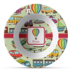 Vintage Transportation Plastic Bowl - Microwave Safe - Composite Polymer (Personalized)