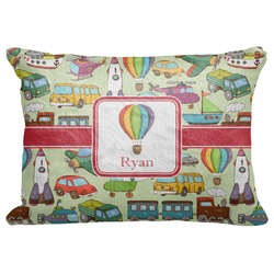 "Vintage Transportation Decorative Baby Pillowcase - 16""x12"" (Personalized)"