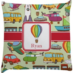Vintage Transportation Decorative Pillow Case (Personalized)