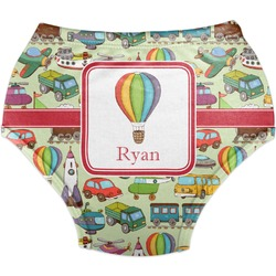 Vintage Transportation Diaper Cover (Personalized)