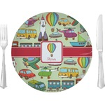 """Vintage Transportation Glass Lunch / Dinner Plates 10"""" - Single or Set (Personalized)"""