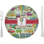 Vintage Transportation Glass Lunch / Dinner Plates 10