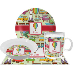 Vintage Transportation Dinner Set - 4 Pc (Personalized)