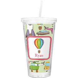Vintage Transportation Double Wall Tumbler with Straw (Personalized)