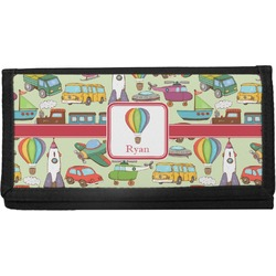 Vintage Transportation Canvas Checkbook Cover (Personalized)