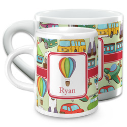 Vintage Transportation Espresso Cups (Personalized)