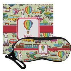 Vintage Transportation Eyeglass Case & Cloth (Personalized)