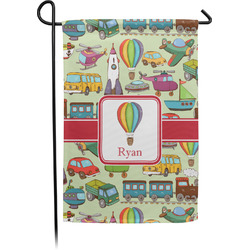 Vintage Transportation Garden Flag - Single or Double Sided (Personalized)
