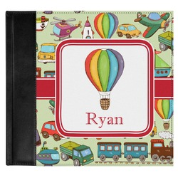Vintage Transportation Genuine Leather Baby Memory Book (Personalized)