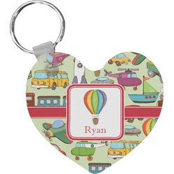 Vintage Transportation Heart Keychain (Personalized)