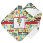 Vintage Transportation Hooded Baby Towel (Personalized)