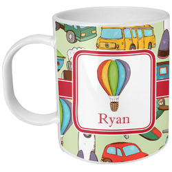 Vintage Transportation Plastic Kids Mug (Personalized)
