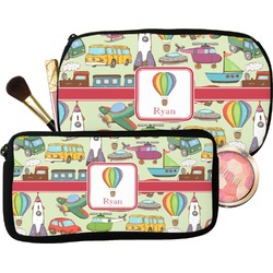 Vintage Transportation Makeup / Cosmetic Bag (Personalized)