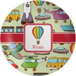 "Vintage Transportation Melamine Plate - 8"" (Personalized)"