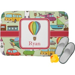 Vintage Transportation Memory Foam Bath Mat (Personalized)