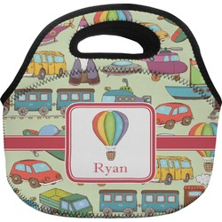 Vintage Transportation Lunch Bag (Personalized)