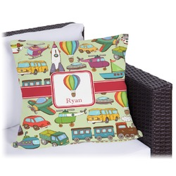 "Vintage Transportation Outdoor Pillow - 20"" (Personalized)"
