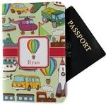 Vintage Transportation Passport Holder - Fabric (Personalized)