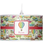 Vintage Transportation Drum Pendant Lamp (Personalized)
