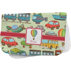 Vintage Transportation Burp Cloth (Personalized)