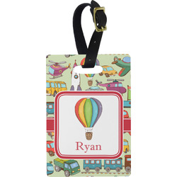 Vintage Transportation Rectangular Luggage Tag (Personalized)