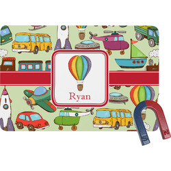 Vintage Transportation Rectangular Fridge Magnet (Personalized)