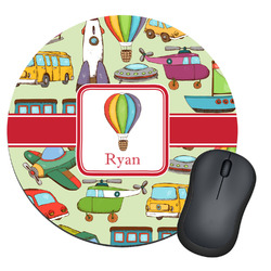 Vintage Transportation Round Mouse Pad (Personalized)