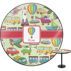 "Vintage Transportation Round Table - 30"" (Personalized)"