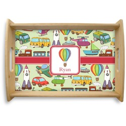 Vintage Transportation Natural Wooden Tray (Personalized)