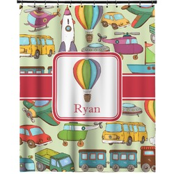 """Vintage Transportation Extra Long Shower Curtain - 70""""x84"""" (Personalized)"""