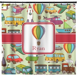 Vintage Transportation Shower Curtain (Personalized)
