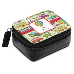 Vintage Transportation Small Leatherette Travel Pill Case (Personalized)