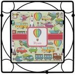 Vintage Transportation Square Trivet (Personalized)