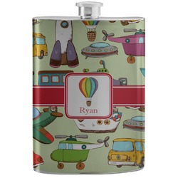 Vintage Transportation Stainless Steel Flask (Personalized)