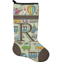 Vintage Transportation Christmas Stocking - Neoprene (Personalized)