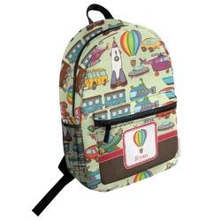 Vintage Transportation Student Backpack (Personalized)