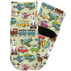 Vintage Transportation Toddler Ankle Socks (Personalized)