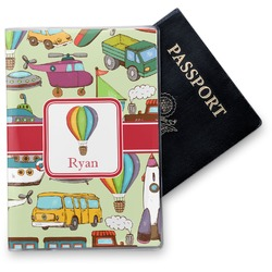 Vintage Transportation Vinyl Passport Holder (Personalized)
